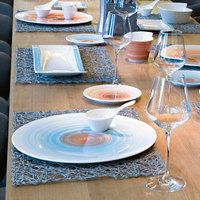 Villeroy & Boch 16-4019-2595 Amarah 12 1/2 inch Aquamarine Porcelain Flat Coupe Plate - 6/Case