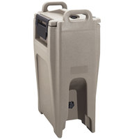 Cambro UC500PL194 Ultra Camtainer 5.25 Gallon Granite Sand Insulated Soup Carrier