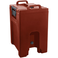 Cambro UC1000PL402 Ultra Camtainer 10.5 Gallon Brick Red Insulated Soup Carrier