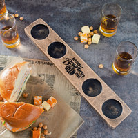 Master's Reserve 96457 15 1/4 inch x 2 3/4 inch Four-Hole Kentucky Bourbon Trail Tasting Flight