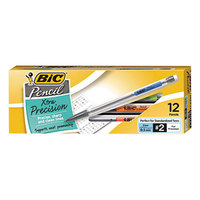 Bic MPF11 Clear Barrel 0.5mm Xtra-Precision HB Lead #2 Mechanical Pencil - 12/Pack