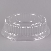 Fineline Platter Pleasers 9201-L 12 inch Clear PET Plastic Round High Dome Lid - 25/Case