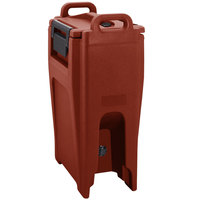 Cambro UC500PL402 Ultra Camtainer 5.25 Gallon Brick Red Insulated Soup Carrier