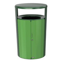 Rubbermaid 2006847 Resist Fan 23 Gallon Empire Green Gloss and May Green Gloss Wastecan