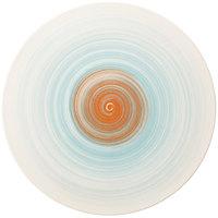 Villeroy & Boch 16-4019-2661 Amarah 6 1/4 inch Aquamarine Porcelain Flat Coupe Plate - 6/Case