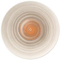 Villeroy & Boch 16-4021-2621 Amarah 11 1/4 inch Taupe Porcelain Flat Coupe Plate - 6/Case