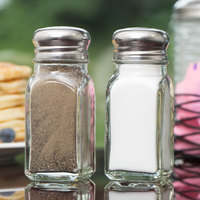 TableCraft 154S&P 2 oz. Square Salt and Pepper Shaker - 72/Case