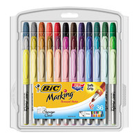 Bic GXPMP361ASS Marking Assorted Color Fine Tip Permanent Marker