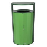Rubbermaid 2006851 Resist Fan 45 Gallon Empire Green Gloss and May Green Gloss Wastecan