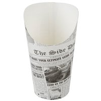 Choice Large 7.5 oz. Paper Scoop Cup with Newsprint Design - 50/Pack