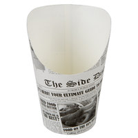 Choice Medium 5.5 oz. Paper Scoop Cup with Newsprint Design - 50/Pack
