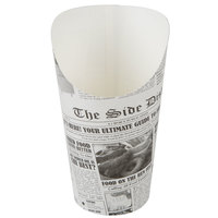 Choice Large 7.5 oz. Paper Scoop Cup with Newsprint Design - 1000/Case