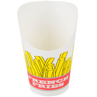 Choice Medium 5.5 oz. Paper Scoop Cup with Fry Design - 50/Pack