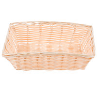 Tablecraft 1172W 9 inch x 6 inch Rectangular Woven Rattan-Like Basket   - 12/Pack