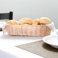 Tablecraft 1113W 13  x 5 inch Oblong Woven Rattan-Like Basket - 12/Pack
