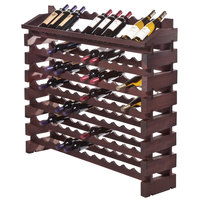 Franmara ED96-S Modularack Pro 96 Bottle Stained Wooden Modular Wine Rack End Display Unit