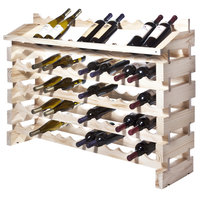 Franmara ED72-N Modularack Pro 72 Bottle Natural Wooden Modular Wine Rack End Display Unit