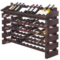 Franmara ED72-S Modularack Pro 72 Bottle Stained Wooden Modular Wine Rack End Display Unit