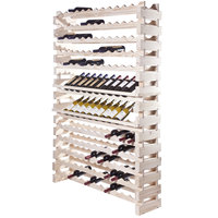 Franmara WM144-N Modularack Pro 144 Bottle Natural Wall Mount Wooden Modular Wine Rack