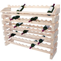 Franmara ED84-N Modularack Pro 84 Bottle Natural Wooden Modular Wine Rack End Display Unit