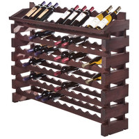 Franmara ED84-S Modularack Pro 84 Bottle Stained Wooden Modular Wine Rack End Display Unit