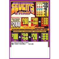 Sevens & Stars 5 Window Pull-Tab Tickets - 960 Tickets Per Deal - $700 Total Payout