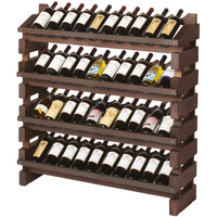 Franmara FD40-S Modularack Pro Full Display 40 Bottle Stained Wooden Modular Wine Rack