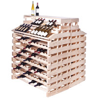 Franmara WFG408DX-N Modularack Pro Waterfall Deluxe Gondola 408 Bottle Natural Wooden Modular Wine Rack