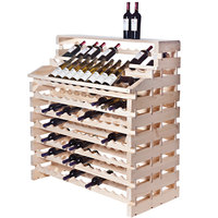 Franmara WF180DX-N Modularack Pro Waterfall Deluxe 180 Bottle Natural Wooden Modular Wine Rack