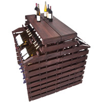 Franmara WFG360DX-S Modularack Pro Waterfall Deluxe Gondola 360 Bottle Stained Wooden Modular Wine Rack