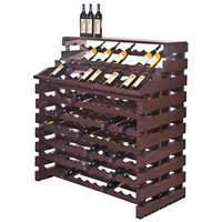 Franmara WF180DX-S Modularack Pro Waterfall Deluxe 180 Bottle Stained Wooden Modular Wine Rack