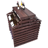 Franmara WFG408DX-S Modularack Pro Waterfall Deluxe Gondola 408 Bottle Stained Wooden Modular Wine Rack