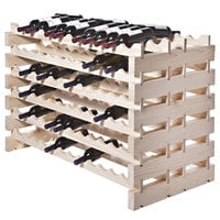 Franmara DD144-N Modularack Pro Double-Deep 144 Bottle Natural Wooden Modular Wine Rack