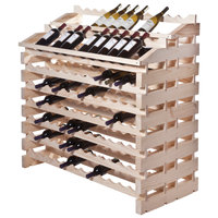 Franmara WF180-N Modularack Pro Waterfall 180 Bottle Natural Wooden Modular Wine Rack