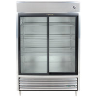 True TSD-47G-HC-LD 54 inch Sliding Glass Door Reach-In Refrigerator with LED Lighting