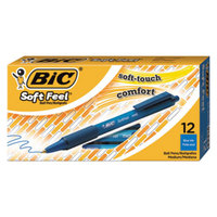 Bic SCSM11BE Soft Feel Blue Ink with Blue Barrel 1mm Retractable Ballpoint Pen - 12/Pack