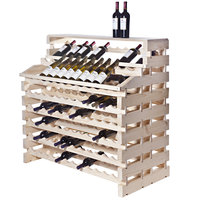 Franmara WF156DX-N Modularack Pro Waterfall Deluxe 156 Bottle Natural Wooden Modular Wine Rack