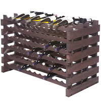 Franmara DD144-S Modularack Pro Double-Deep 144 Bottle Stained Wooden Modular Wine Rack