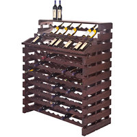 Franmara WF204DX-S Modularack Pro Waterfall Deluxe 204 Bottle Stained Wooden Modular Wine Rack