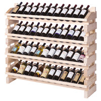 Franmara FD48-N Modularack Pro Full Display 48 Bottle Natural Wooden Modular Wine Rack