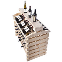 Franmara IF144DX-N Modularack Pro Island Deluxe 144 Bottle Natural Wooden Modular Wine Rack