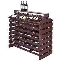 Franmara IF168DX-S Modularack Pro Island Deluxe 168 Bottle Stained Wooden Modular Wine Rack