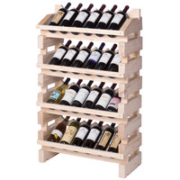 Franmara FD24-N Modularack Pro Full Display 24 Bottle Natural Wooden Modular Wine Rack