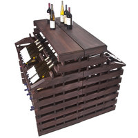 Franmara WFG312DX-S Modularack Pro Waterfall Deluxe Gondola 312 Bottle Stained Wooden Modular Wine Rack
