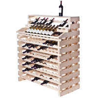 Franmara WF204DX-N Modularack Pro Waterfall Deluxe 204 Bottle Natural Wooden Modular Wine Rack