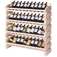 Franmara FD40-N Modularack Pro Full Display 40 Bottle Natural Wooden Modular Wine Rack