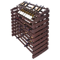 Franmara WF204-S Modularack Pro Waterfall 204 Bottle Stained Wooden Modular Wine Rack