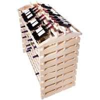 Franmara IF192-N Modularack Pro Island 192 Bottle Natural Wooden Modular Wine Rack