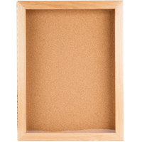 Aarco OBC2418S 24 inch x 18 inch Enclosed Hinged Souvenir and Memorabilia Display Case with Natural Oak Finish