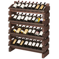 Franmara FD32-S Modularack Pro Full Display 32 Bottle Stained Wooden Modular Wine Rack